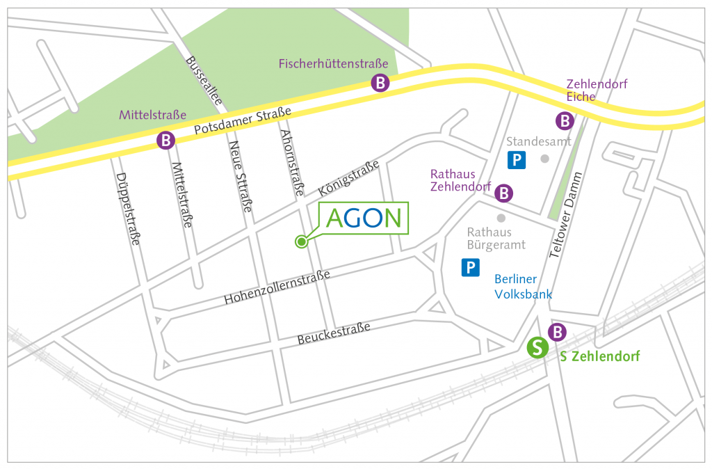 Anfahrt AGON-BERLIN